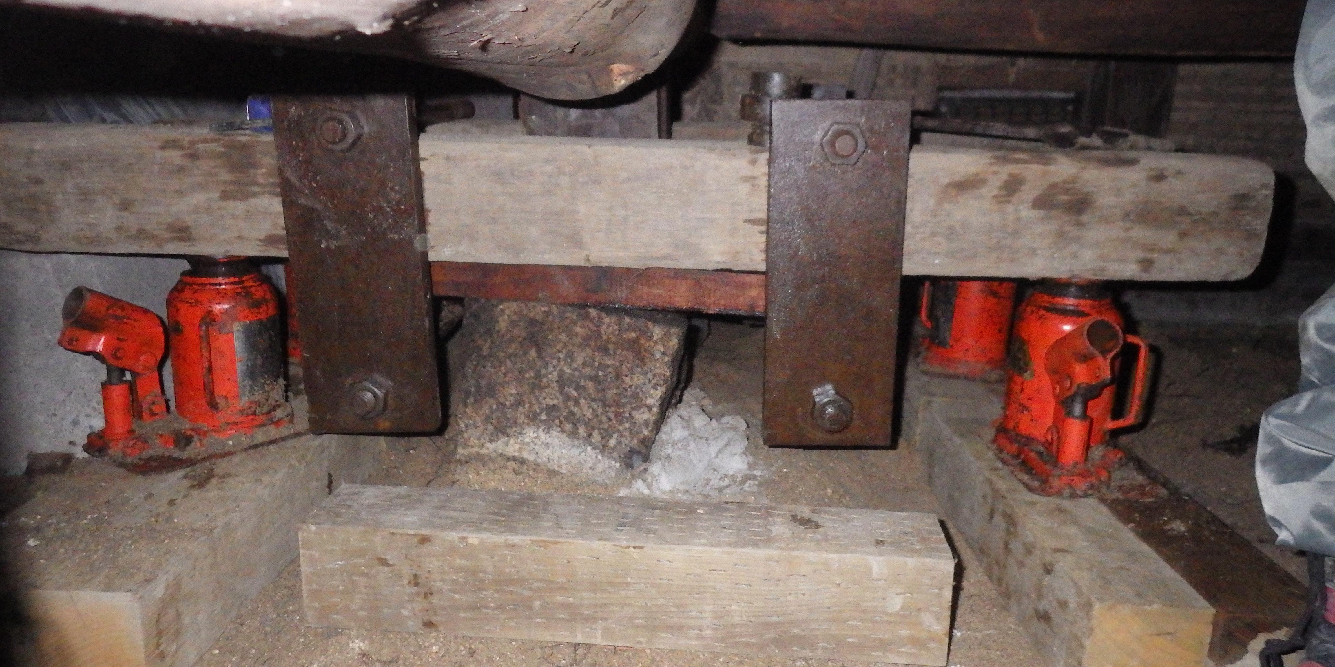 広島に古民家の沈下修正工事